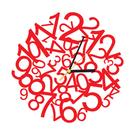 時鐘壁貼【WD-112 數字宇宙】藝術壁貼 櫥窗設計 無毒無痕 不傷牆面 創意壁貼 英國設計 現貨供應