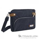 【Travelon 美國】防盜復古側肩包『靛藍』TL-33071 旅行包 安全 防盜 防偷竊 側背包