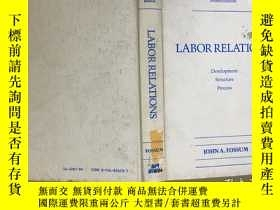 二手書博民逛書店Fourth罕見Edition LABOR RELATIONS第