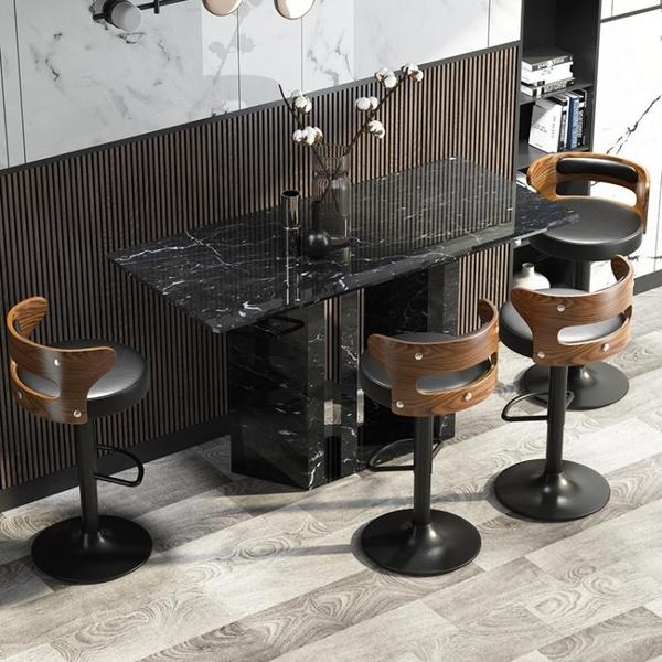 吧台椅北歐酒吧椅升降高腳凳子家用吧台凳現代簡約吧椅靠背吧凳 青木鋪子