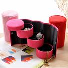 首飾盒首飾盒歐式公主韓國飾品迷你收納盒簡約小號便攜耳釘戒指珠寶盒