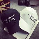 棒球帽情侶款ManStyle潮流嚴選趣味立體刺繡字母情侶棒球帽滑板帽嘻哈帽街舞帽【02U0151】