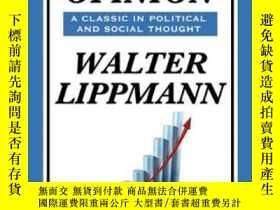 二手書博民逛書店Public罕見Opinion By Walter LippmannY364682 Walter Lippma