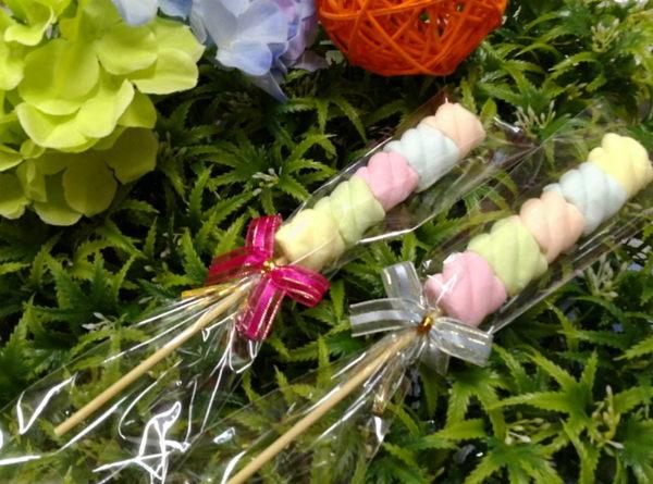 《婚禮小物- 五彩捲捲棉花糖串/100支》*喜糖/桌上禮/送客禮/二次進場