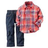 Carter's平行輸入童裝 男寶寶 長袖襯杉西裝上衣&褲子 紅【CA229G103】