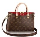 【雪曼國際精品】Louis Vuitton LV M41175 PALLAS 經典花紋兩用仕女包.紅(大)─新品現貨