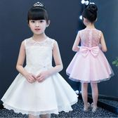 兒童洋裝—白色女童公主裙兒童禮服夏裝新款蓬蓬女孩連身裙寶寶洋氣裙子 依夏嚴選
