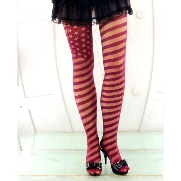 褲襪(P&W)30027星條紋-紅-F
