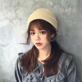 特賣黑色針織毛線帽子女秋冬季雅痞瓜皮帽地主帽韓版潮韓國男冬天冷帽
