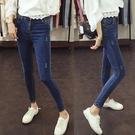 超火牛仔褲女春秋新款韓版顯瘦高腰緊身小腳夏裝薄款九分女褲「艾瑞斯居家生活」