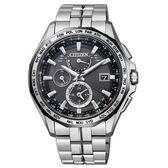 CITIZEN Eco-Drive 航空地堡時尚電波腕錶-AT9096-57E