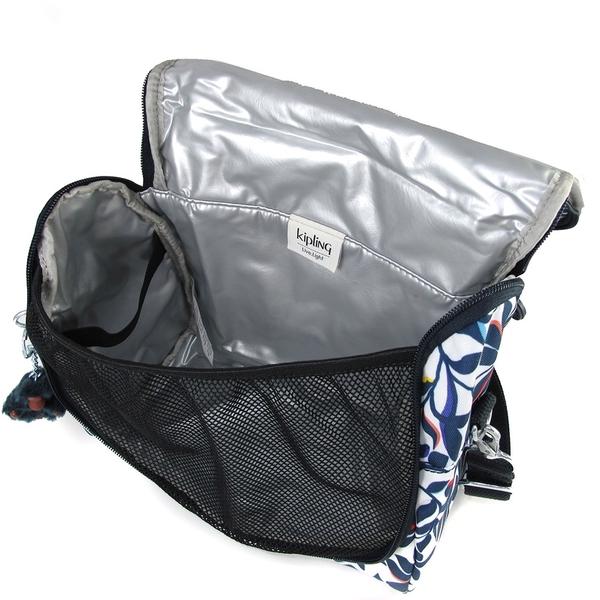 KIPLING KITCHIROU 深藍色花園圖樣保冷/保溫 野餐/便當袋-AC72564HP