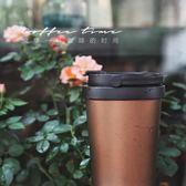 304不銹鋼真空咖啡杯保冷雙層保溫杯隔熱翻扣