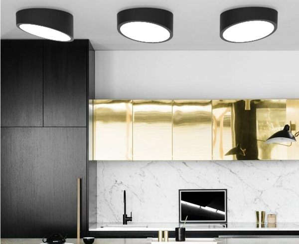 美術燈    北歐創意臥室過道客廳燈具陽台玄關圓形斜角 LED吸頂燈(大號)   -不含光源