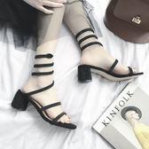 涼鞋女夏歐美新款高跟防水台露趾蛇形纏繞綁帶性感女涼靴女鞋 衣櫥の秘密