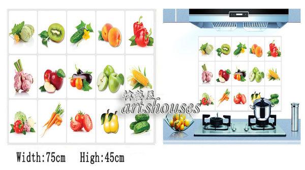 A13019【百搭蔬果】防油貼紙kitchen