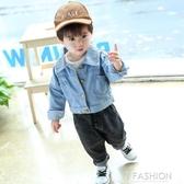 男童牛仔外套春秋韓版2小童洋氣兒童夾克嬰兒春裝寶寶外套男1-3歲-Ifashion