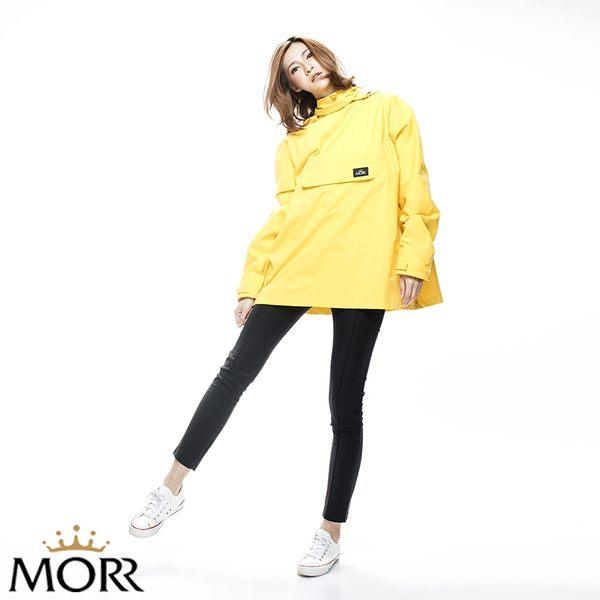【MORR】Postshorti磁吸式反穿防水外套【經典黃】防水/透濕/透氣/戶外活動/自體收納