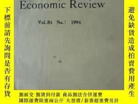 二手書博民逛書店The罕見American Economic Review:Vo