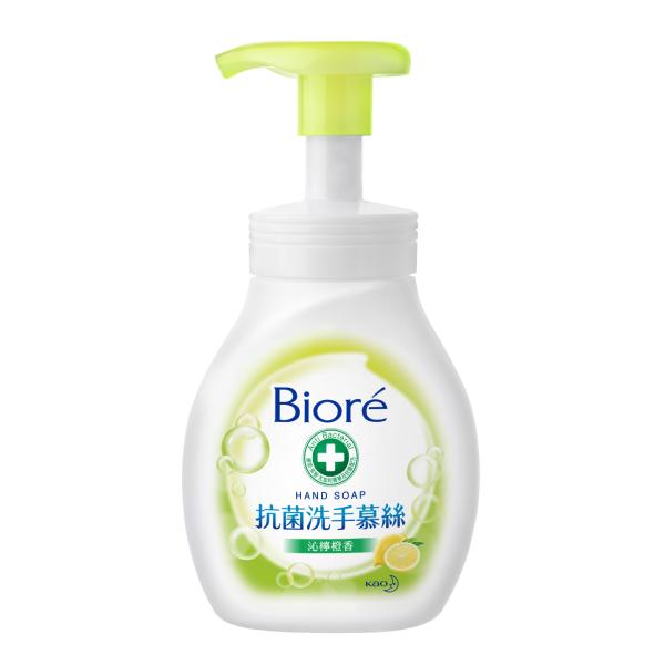 Biore抗菌洗手慕絲沁檸橙香280ML【康是美】