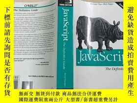 二手書博民逛書店英文原版罕見JavaScript: The Definitive