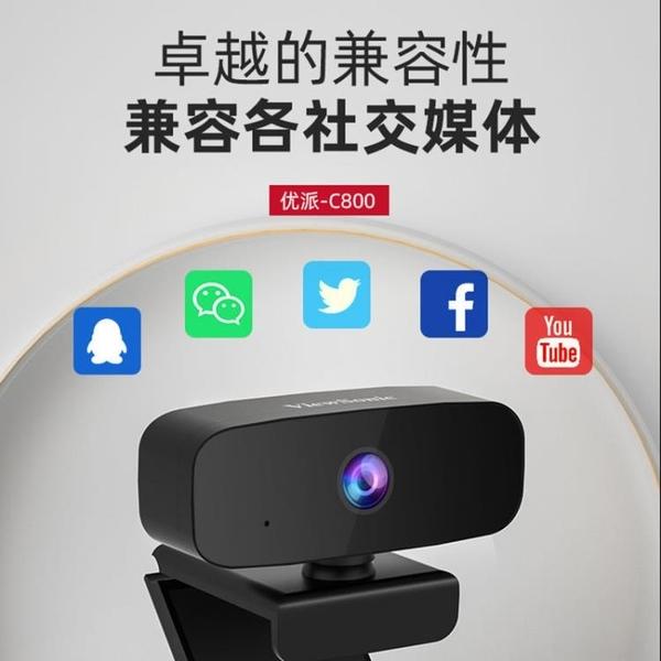 優派臺式機電腦攝像頭1080P網絡會議視頻網課直播攝像頭帶麥克風快速出貨快速出貨