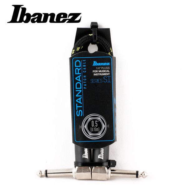 小叮噹的店-IBANEZ SI05P-BG WOVEN 0.5呎 編織 短導線(黑綠)