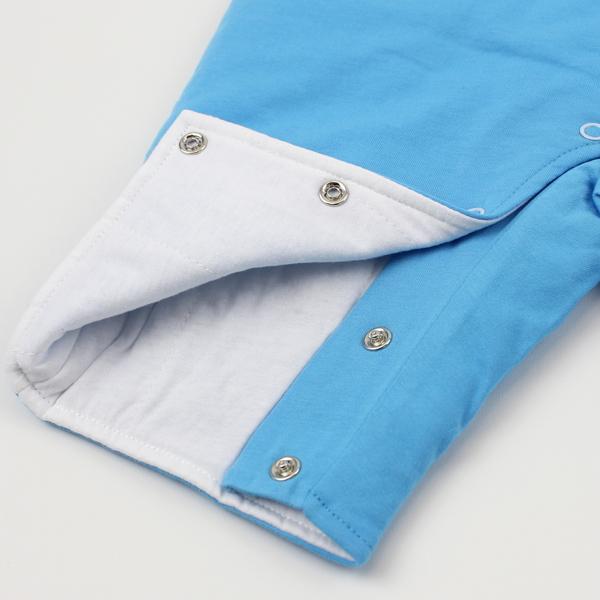 【愛的世界】純棉鋪棉衣連褲-天藍/6個月~2歲-台灣製- ---幼服推薦