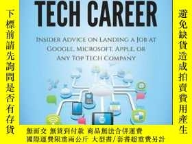 二手書博民逛書店Cracking罕見the Tech Career: Insider Advice on Landing a Jo
