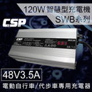 SWB系列48V3.5A充電器(電動摩托車用)鉛酸電池 適用 (120W) 客製化