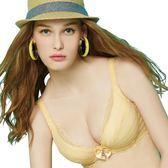 思薇爾-啵時尚系列A-E罩深V款蕾絲包覆內衣(霞金色)