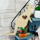 【全館5折】WaBao ZAKKA雜貨 韓國正品動物造型+愛心形水晶家居擺飾 (袋鼠) =K00004=