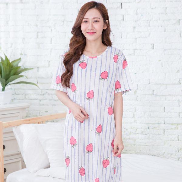 輕甜夏日100%針織棉居家睡衣洋裝