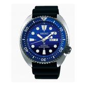 日本SEIKO精工 PROSPEX   2018最新上市 DIVER SCUBA 復刻200米潛水機械錶 4R36-05H0A SRPC91J1 橡膠錶帶黑X藍面