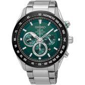 SEIKO精工 Criteria 太陽能計時手錶-綠/43mm V175-0EE0G(SSC583P1)