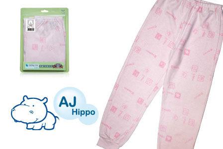 AJ Hippo 小河馬 天絲棉女童 保暖褲--粉色 (2Y/4Y/6Y)