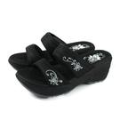 G.P 阿亮代言 拖鞋 厚底 黑色 花卉 女鞋 G0513W-10 no079