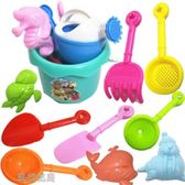 沙灘玩具-兒童仿真沙灘玩具套裝海邊戲水洗澡小桶沙漏鏟子挖沙玩沙子 流行花園