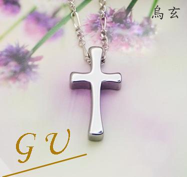 【GU】W19女友 禮物鋼鏈吊墜鋼鍊項鍊 女鎢鋼鈦鋼 GresUnic Agloce 十字架烏玄項鍊 女