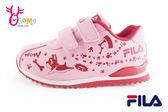 FILA女童運動鞋 法鬥犬 夜光系列 防潑水 機能慢跑鞋N7632#粉紅◆OSOME奧森童鞋