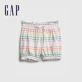 Gap嬰兒 甜美印花純棉鬆緊短褲 669595-彩色條紋