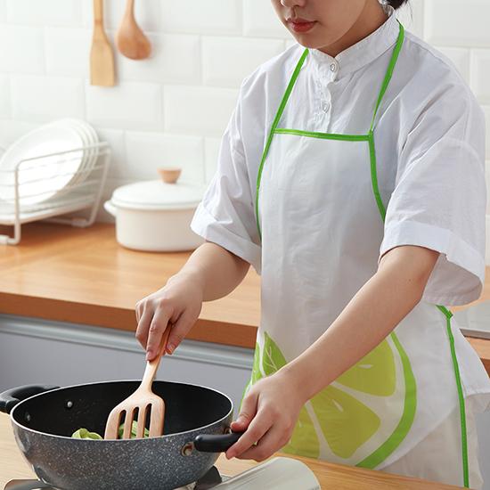 圍裙 兒童圍裙 防水 繪畫 料理 咖啡廳 煮飯 烘焙 居家 防燙 水果 掛脖 圍裙 【L163】慢思行