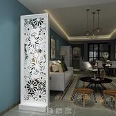 原創歐式蝴蝶花玄關櫃隔斷櫃裝飾櫃簡約現代雙面屏風座屏摺屏 現貨快出