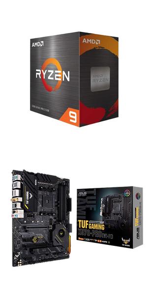 【自組DIY兩件組R59】AMD R9 5900X+華碩 TUF GAMING X570-PRO WIFI