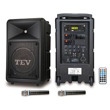 台灣精品 TEV TA680iD-2 藍芽/DVD/USB/SD雙頻無線擴音機 藍芽、USB、SD Card *廣播教學 戶外活動