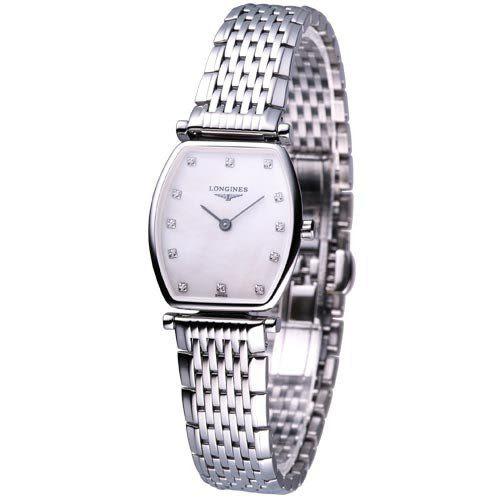 LONGINES 嘉嵐絕美酒桶型超薄鑽錶L42054876