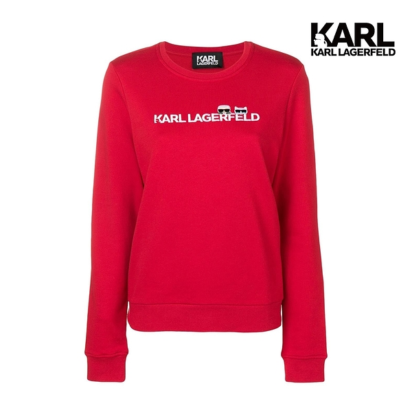 KARL LAGERFELD IKONIK LOGO 運動衫-紅