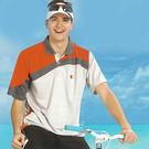 【日本 Kawasaki】男女運動休閒吸濕排汗短POLO衫(淺灰橘)#K2229A