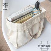 棉麻帆布手提袋大容量帆布袋購物環保袋【時尚大衣櫥】