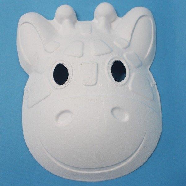 長頸鹿面具 空白動物面具 DIY面具 /一個入(定40) 附鬆緊帶-5348